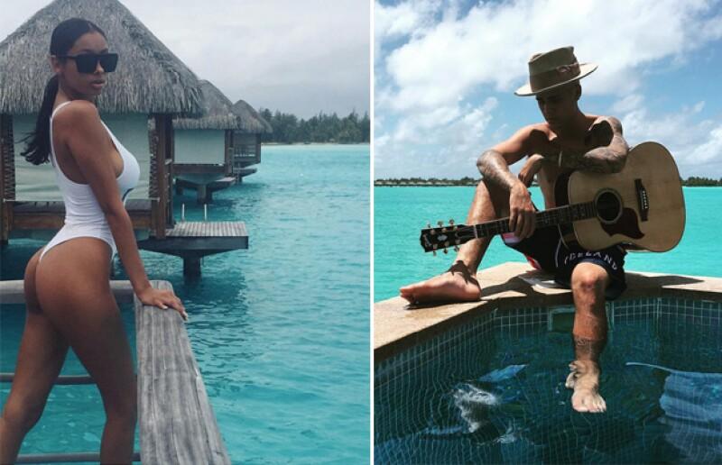A juzgar por sus fotos de Instagram, Justin todavía se encuentra en Bora Bora en compañía de Jayde Pierce.