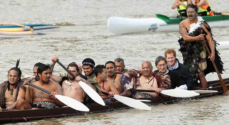 El principe remó contracorriente al igual que los guerreros Maorí.