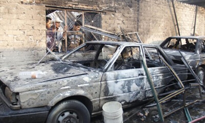 La unidad que explotó en Ecatepec pertenece a Transportes Migar. (Foto: Notimex)