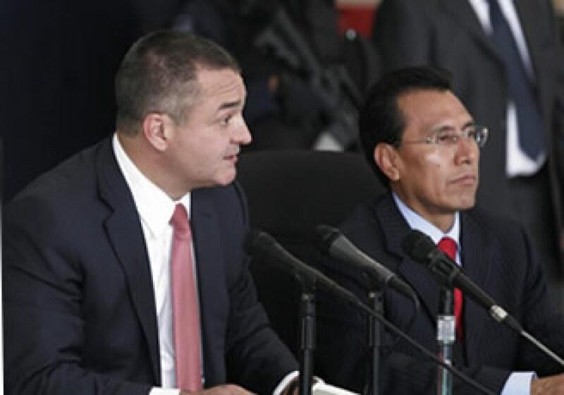 Genaro García Luna, señaló que hubo una falla en el aeropuerto de Cancún al no detectar la supuesta bomba. (Foto: NTX)