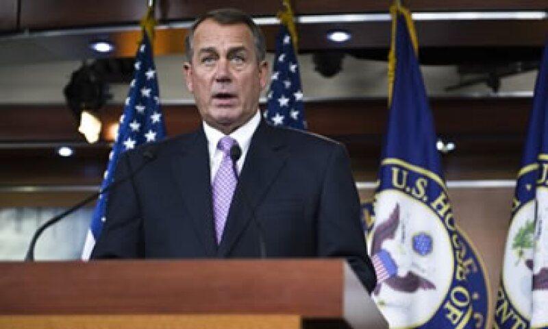 """""""Pediremos a la Cámara y al Senado aprobar este acuerdo por un consenso unánime antes de Navidad"""", aseguró Boehner.  (Foto: Reuters)"""