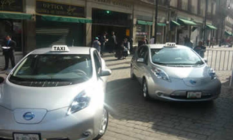 Taxi eléctrico (Foto: Nissan)