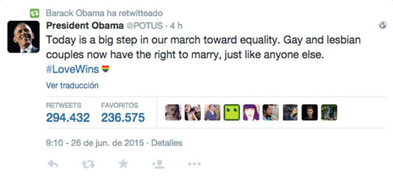 Tras darse a conocer que la Suprema Corte de los Estados Unidos finalmente aprobó el matrimonio entre personas del mismo sexo, celebridades como Ricky Martin o Ellen DeGeneres celebraron la noticia.