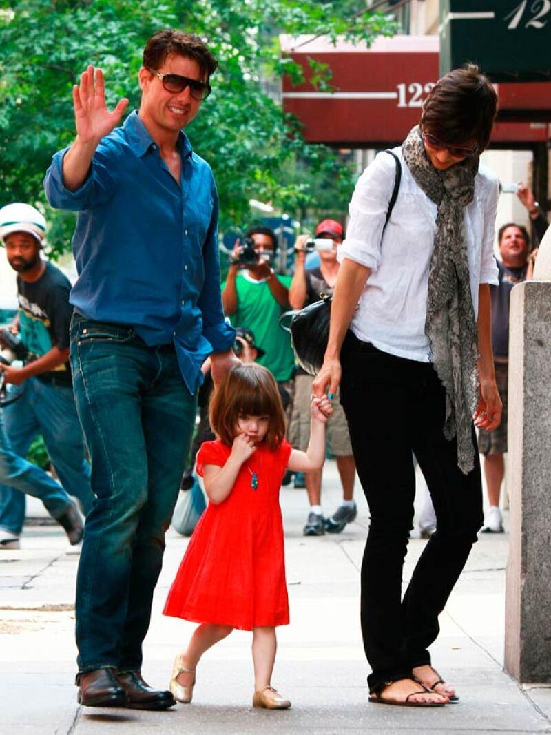 Aquí Tom Cruise y Katie Holmes juntos, cuando Suri tenía 2 años.