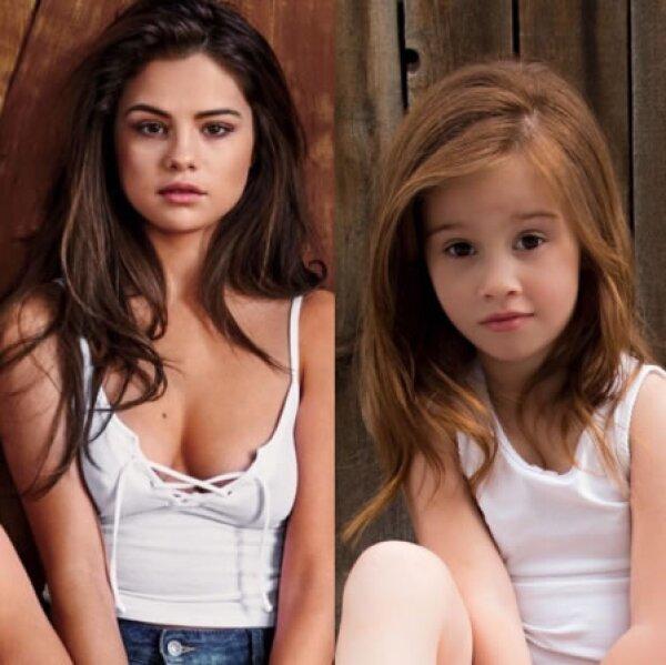 Ellee Approved imitando a Selena Gomez.