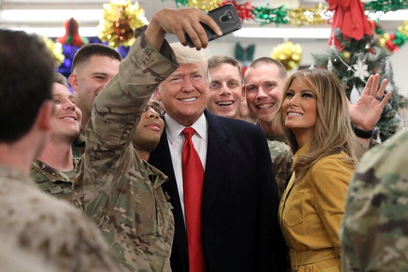 Trump y Melania en Iraq