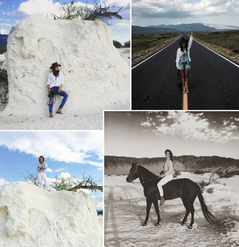 En su aventura por el norte de México, la conductora de Mojoe se cayó del caballo que montaba sin silla, pues al parecer éste se alteró al ver salir una serpiente entre las dunas.