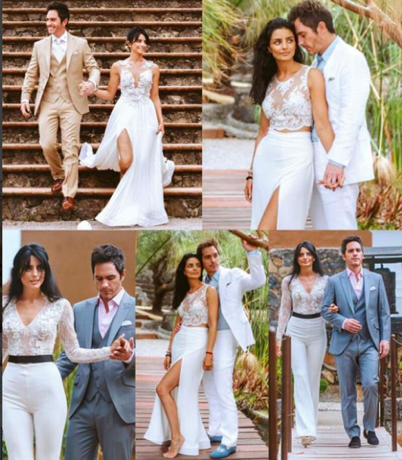 La actriz siguió compartiendo más fotos de su enlace, en las que se puede ver que para los tres días que duró el evento, usó distintos diseños de Benito Santos.