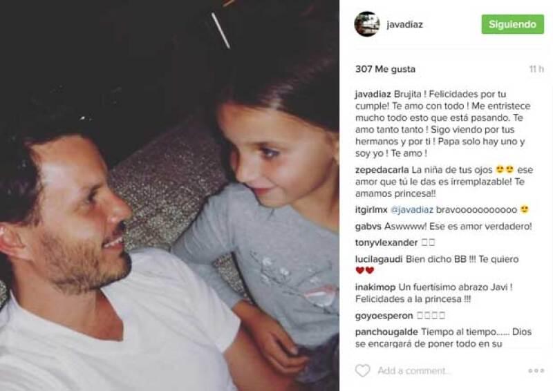 Así felicitó a su hija Javier Díaz.