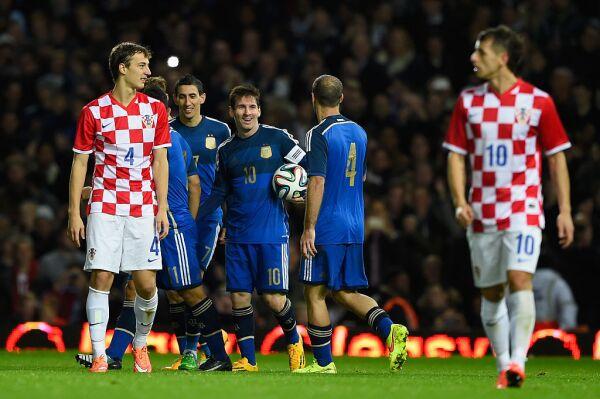 Argentina y Croacia futbol