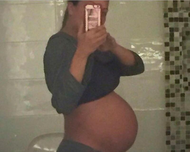 Mariana no podía contener la emoción por la llegada de su bebé y así anticipó que el nacimiento estaba próximo.
