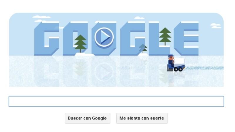 Google doodle, frank zamboni, hielo, pista