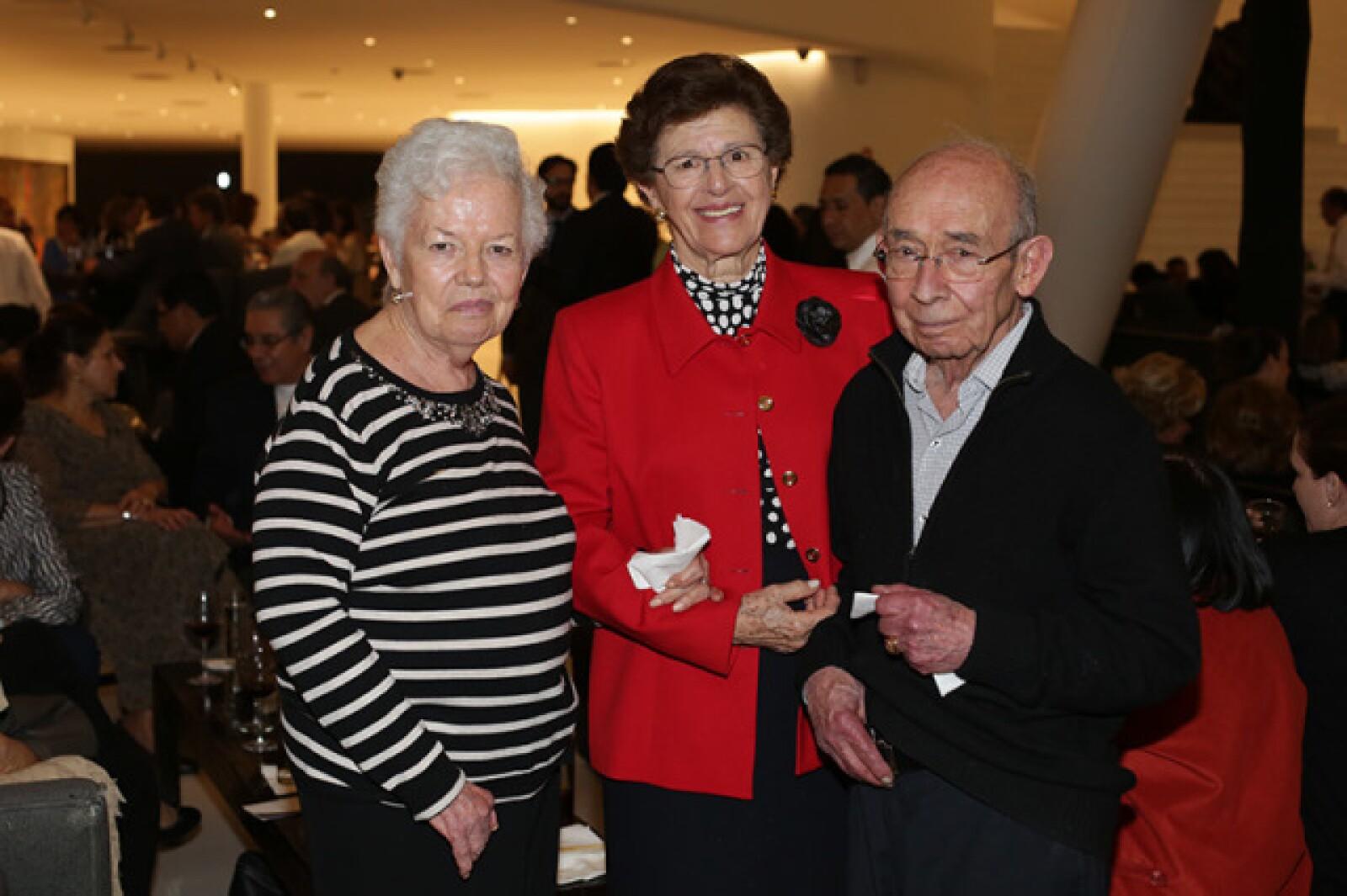 Mercedes Cásarez,Angélina Celorio y Wenseslao Quintana