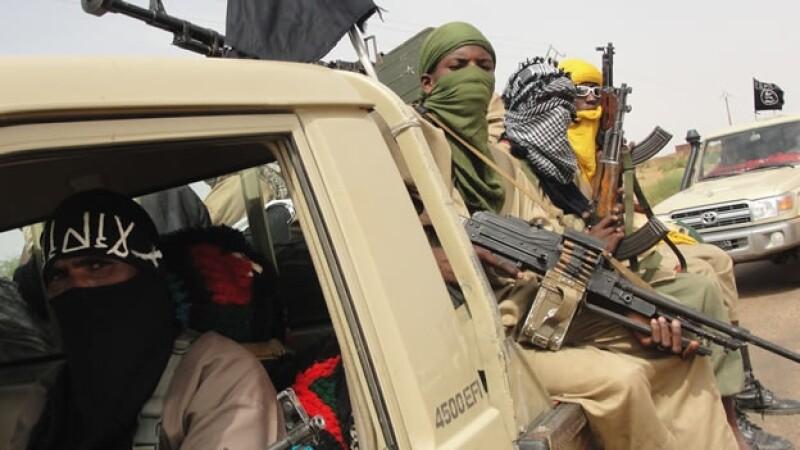 Rebeldes islamistas del grupo Ansar Dine