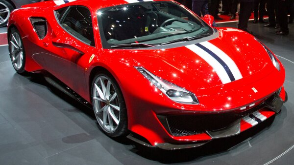 FILE PHOTO: A  Ferrari 488 Pista at the Geneva International Motor Show