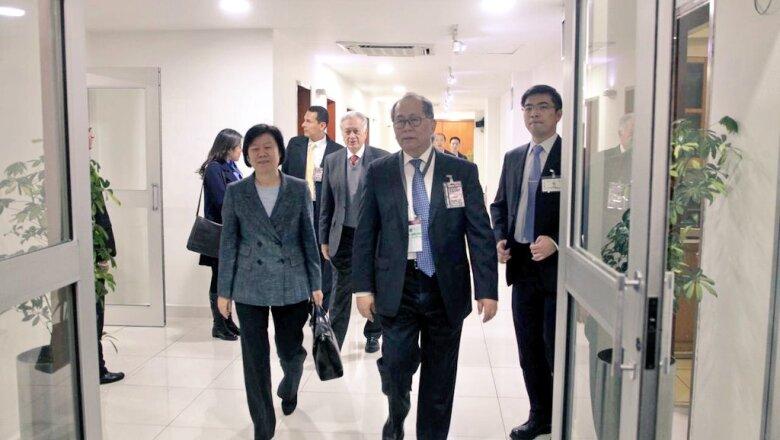 La llegada de la vicepresidenta de China