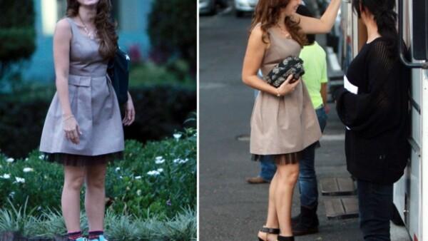 """Los actores vivieron un momento """"paparazzi"""" en la ciudad de México mientras grababan escenas de la telenovela """"Por siempre mi amor""""."""