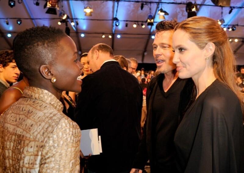 Compartieron experiencias con Lupita Nyong´o, y más tarde acudieron a una cena en honor a la película `12 Years a Slave´.