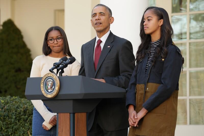 Sasha, Barack y Malia