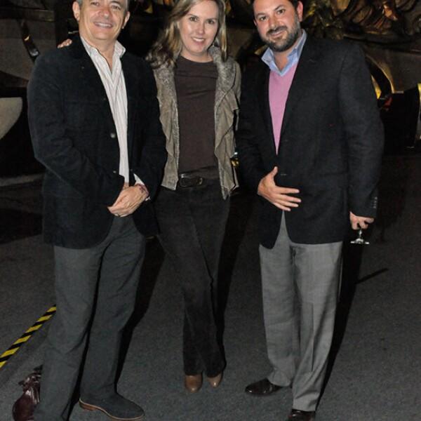 Javier y Stephanie Arnau con Pedro Murad
