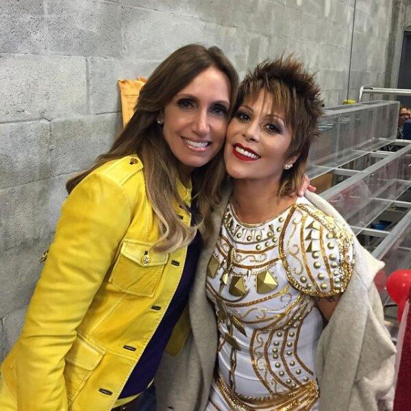 También recibió a la cantante Alejandra Guzmán quien viajo a Los Ángeles para estar presente en Teletón USA.