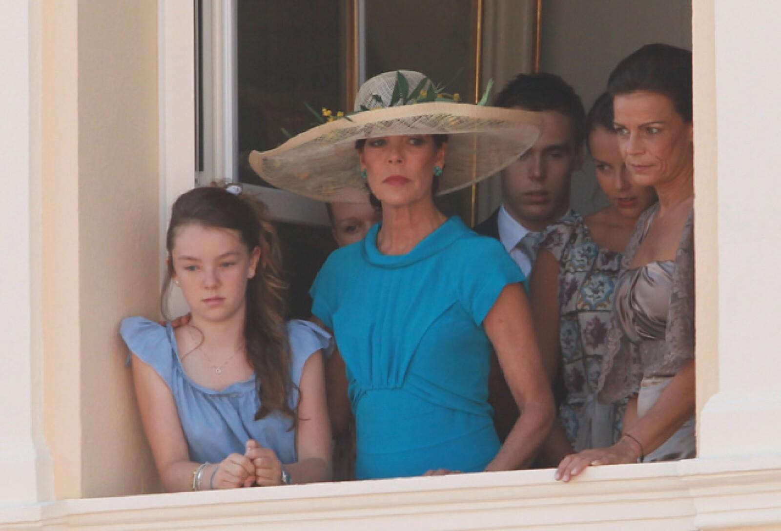 Alexandra de Hanover, Camille Marie Kelly Gottlieb, Caroline de Hanover, Louis Ducruet, Pauline Ducruet y Estefanía de Mónaco.