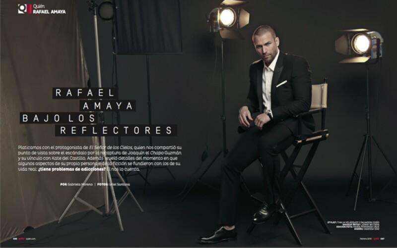 El actor luce espectacular en las fotos a cargo de Uriel Santana.