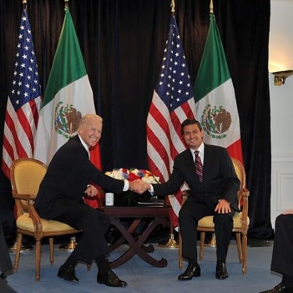 5 de marzo Peña Nieto se reune con el vicepresidente de estados unidos Joseph Biden