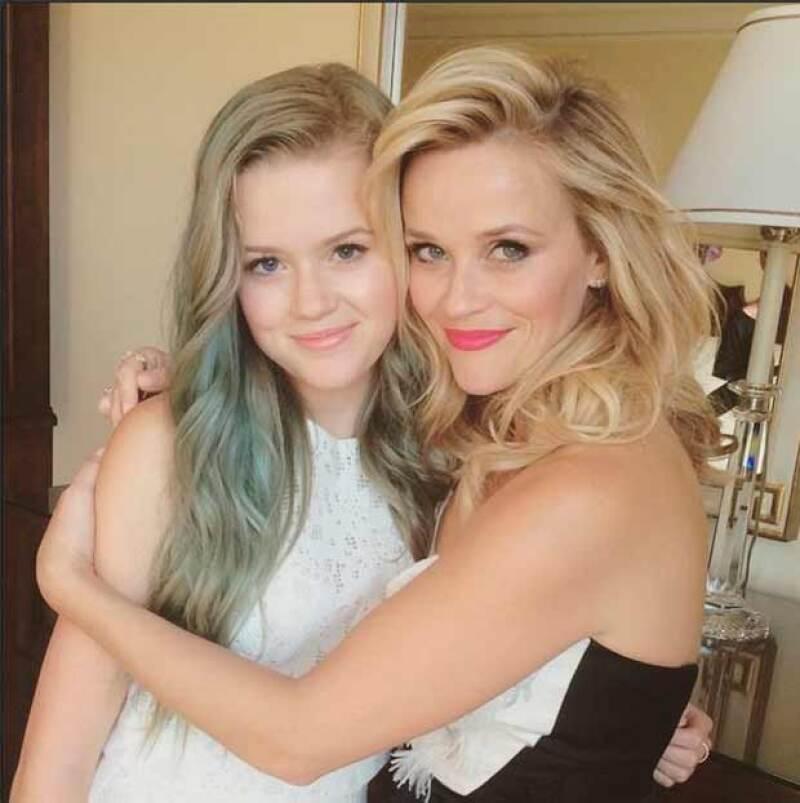 Esta fue una de las primeras fotos en las que se veía el increíble parecido de Reese y su hija.