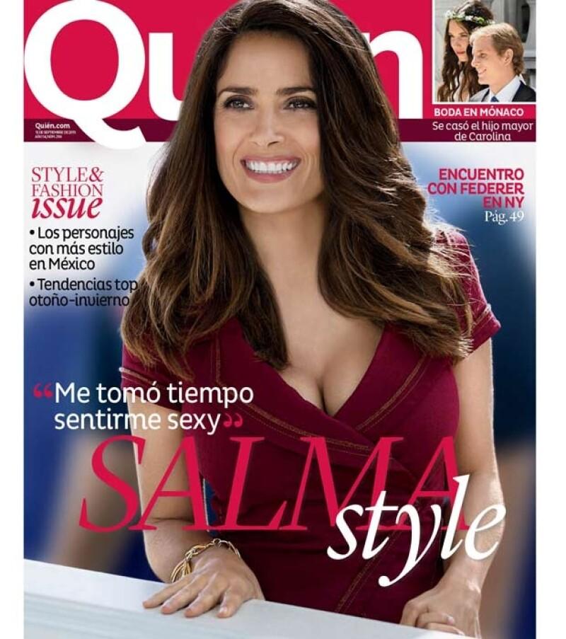 Salma Hayek en el nuevo número de la revista Quién.