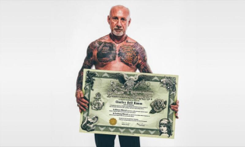 Charles Hamm es el fundador de Save My Ink. (Foto: Asociación Nacional para la Preservación del Arte en la Piel/Cortesía )