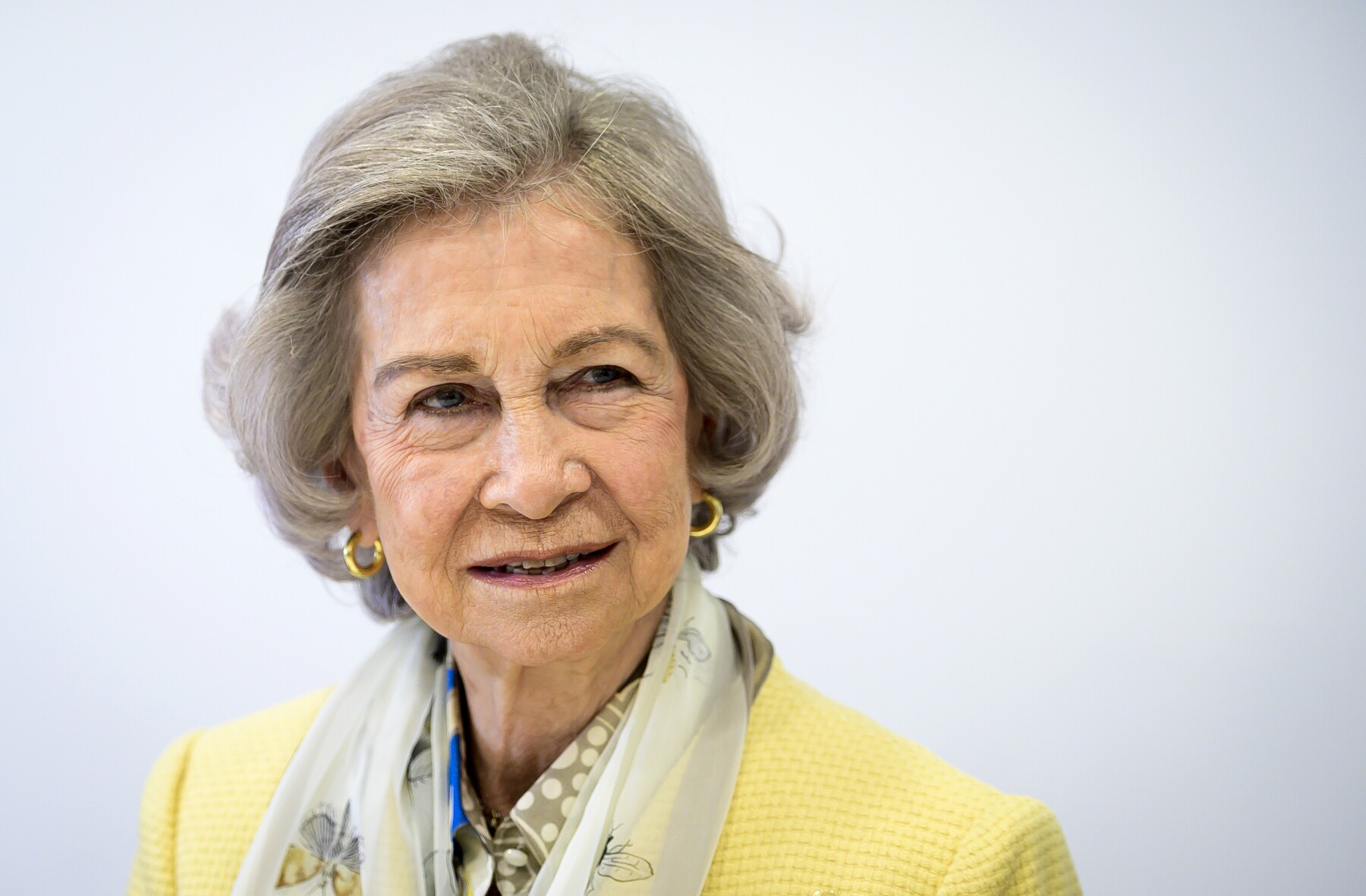 Queen Sofia Visits The Food Bank Of Alcorcon