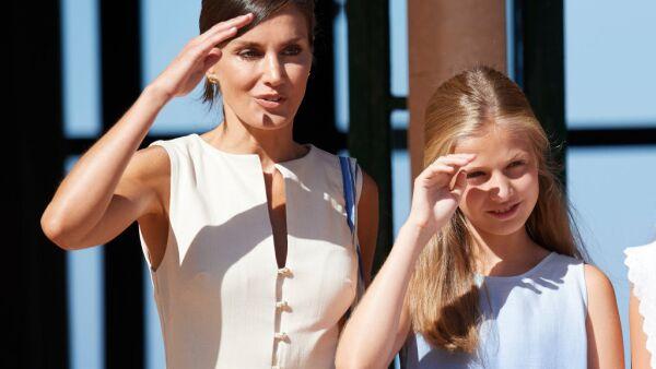 Letizia de España y la princesa Leonor