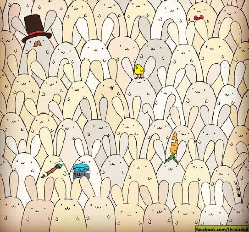 Una nueva festividad y otra oportunidad para encontrar el objeto perdido. En esta ocasión, el ilustrador Gegerly Dudás ha escondido un huevo entre varios conejos.