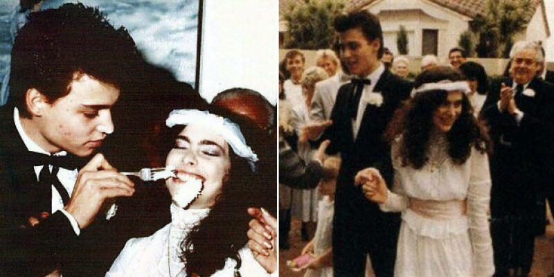 El actor, de tan sólo 20 años, en el día de su boda con Lori Allison.