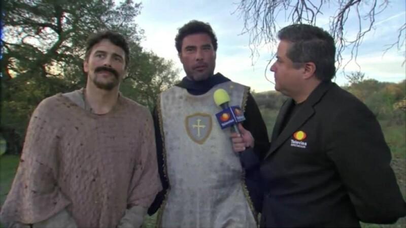 James Franco conoció a Eduardo gracias a su asistente Iris, quien le comentó la popularidad del actor en México.