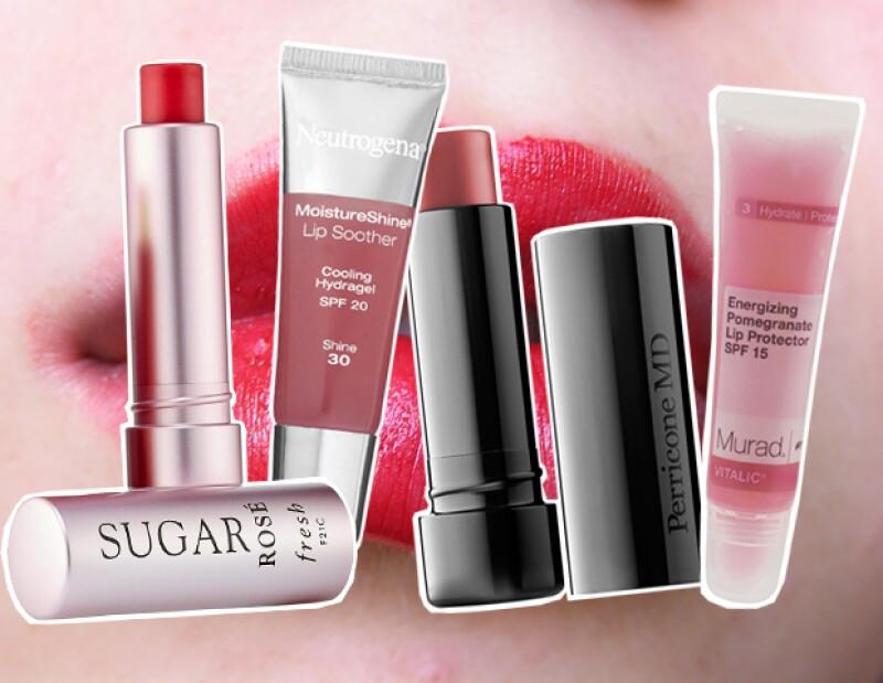 Freshm Neutrogena, Perricone MD y Murad, tienen productos para proteger los labios y que además agregan color.