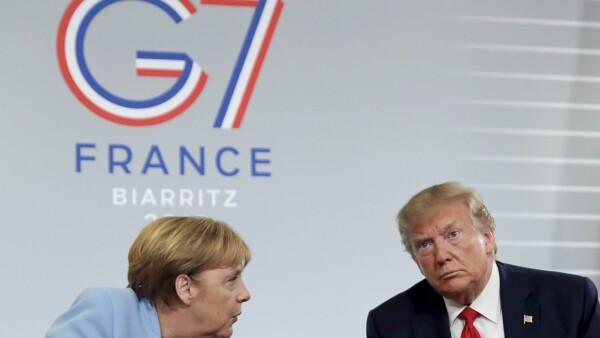 G7 Merkel-Trump