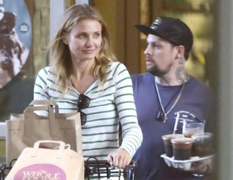 Cameron y Benji también acudieron de compras al supermercado.