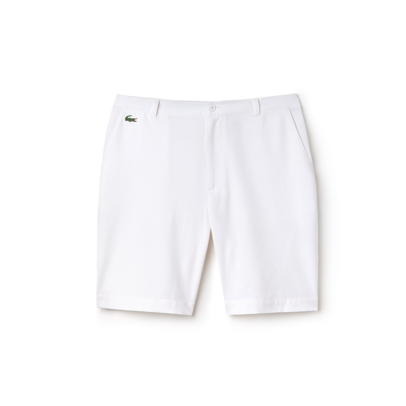 Short blanco para practicar golf