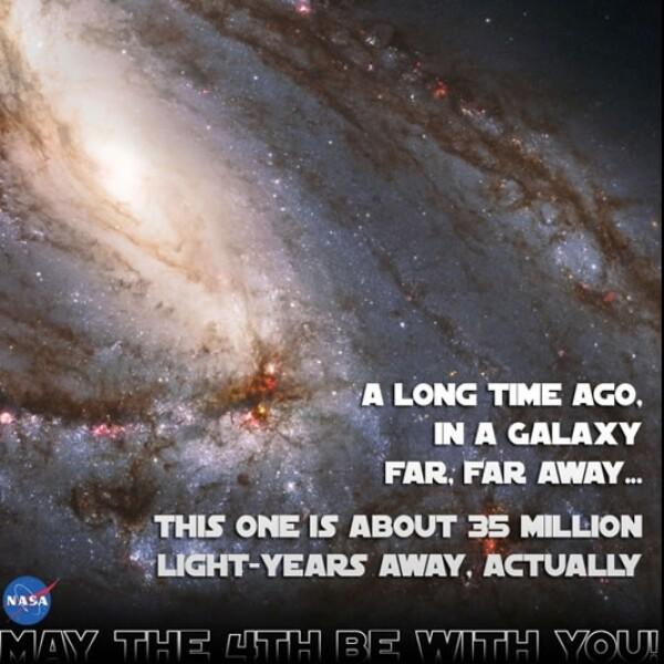 """""""Hace mucho tiempo...en una galaxia muy lejana"""", dice esta foto que subió la NASA"""