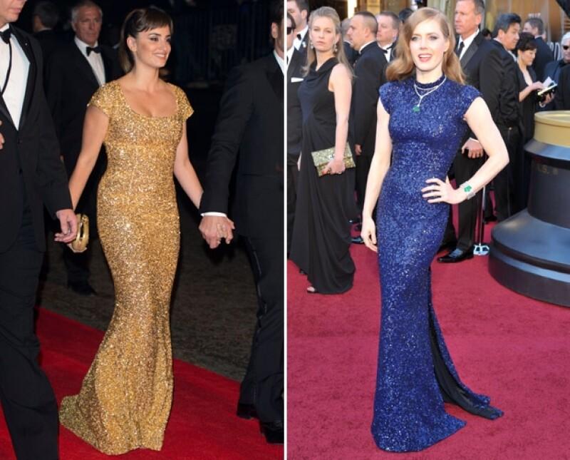 Penélope Cruz y Amy Adams usaron sus elegantes vestidos en ceremonias de premiación y premieres de gala.