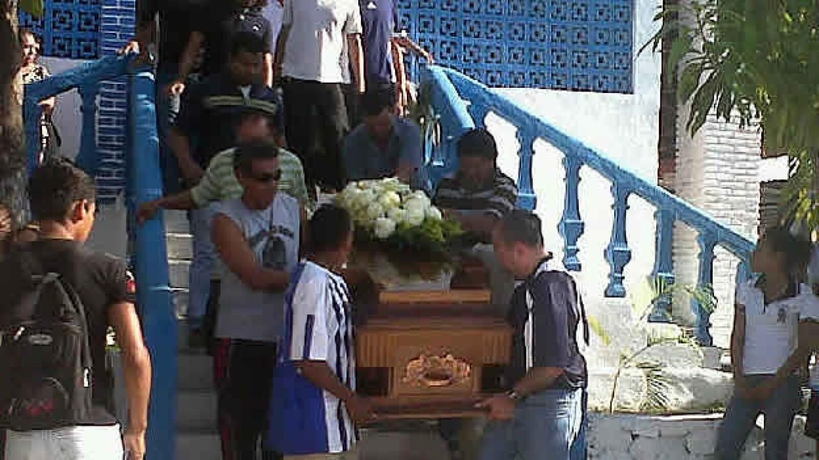 Funeral en Atoyac  de Jorge Alexis, alumno de Ayotzinapa, Guerrero