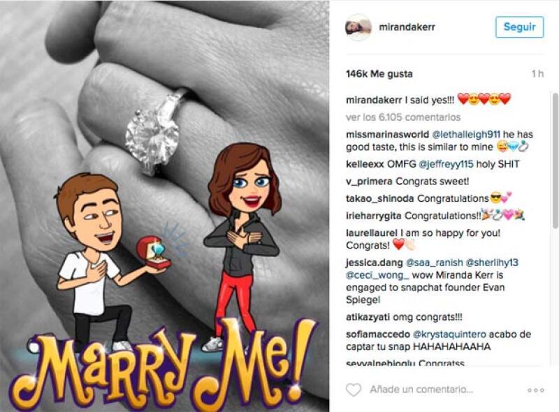 Ella misma se encargó de anunciar su compromiso con Evan.