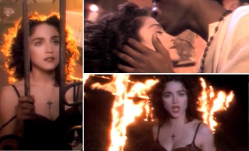 El video `Like a prayer´ de la estrella pop fue muy polémico en su estreno a finales de los 80.