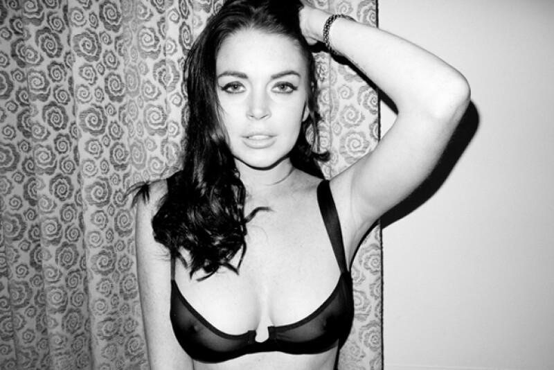 Lindsay también cusó revuelo por sus sexys y atrevidas fotos obra de Terry Richardson.