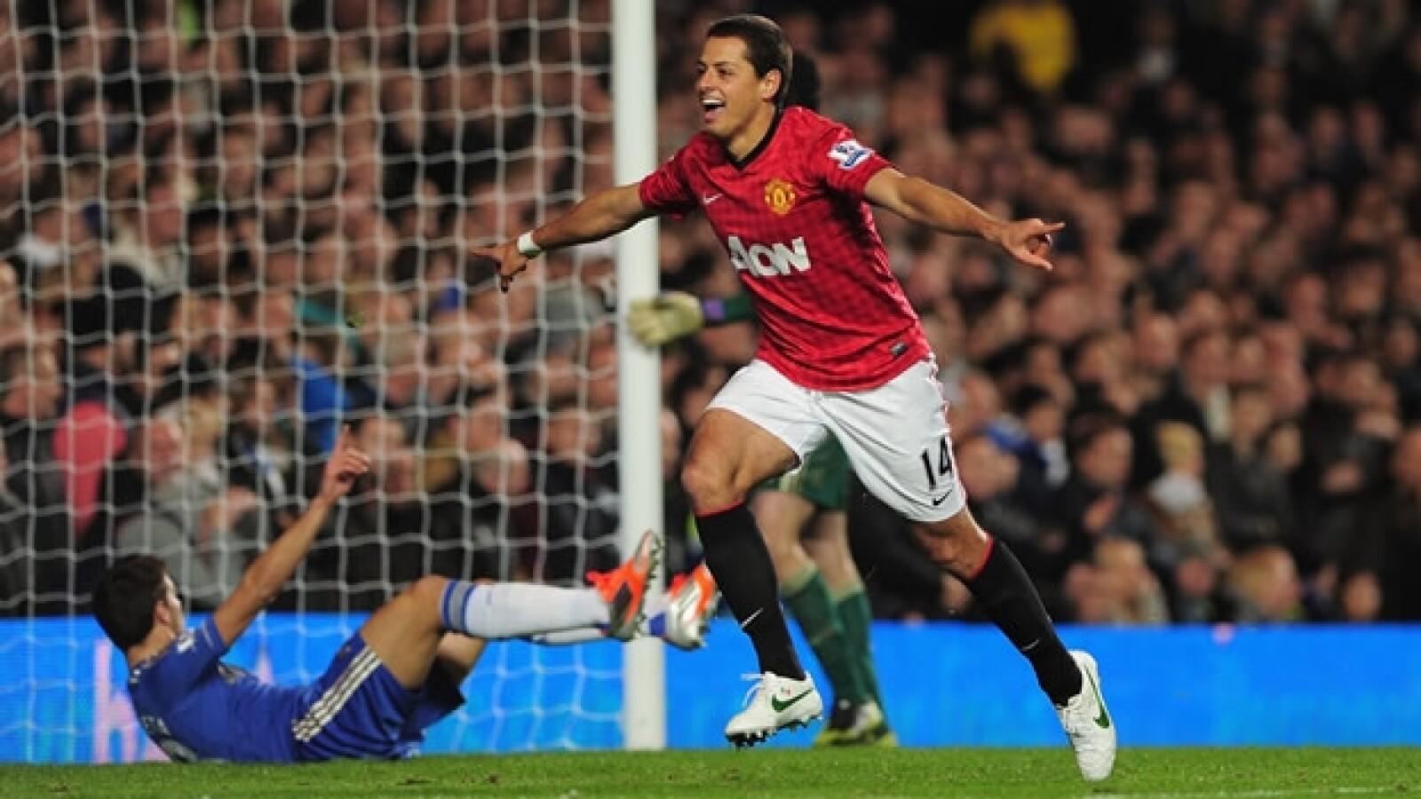 Chicharito goles vs. Chelsea liga