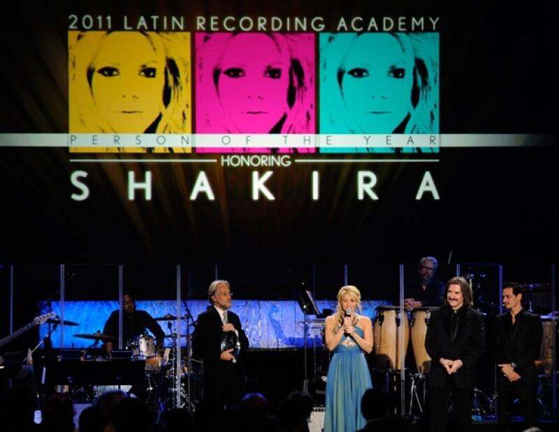 Durante el homenaje a Shakira todos se volvaron en aplausos.