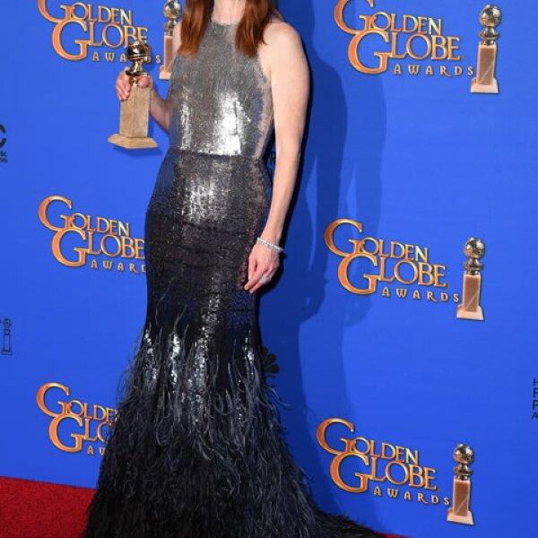 Julianne Moore se coronó como Mejor actriz drama en la película Por Siempre Alice