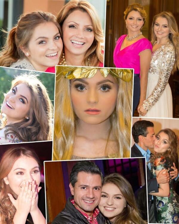 Angélica Rivera compartió estas fotos de su hija Sofía para felicitarla.